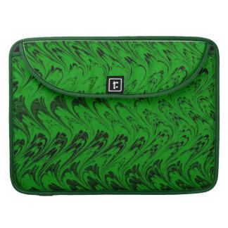 Vintage Swirls Green Macbook Pro Flap Sleeve MacBook Pro Sleeves