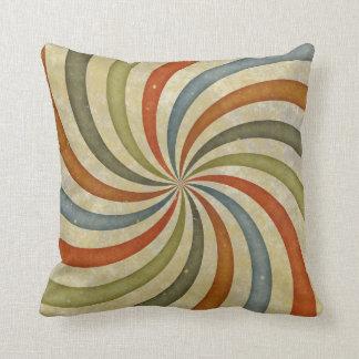 Vintage swirls pattern cushion