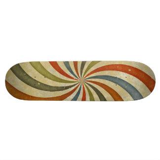 Vintage swirls pattern custom skateboard