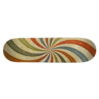 Vintage swirls pattern skateboard