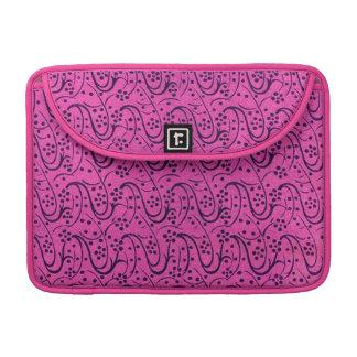 Vintage Swirls Pink Macbook Pro Flap Sleeve MacBook Pro Sleeve