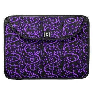 Vintage Swirls Purple Macbook Pro Flap Sleeve Sleeves For MacBooks