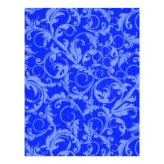 Vintage Swirls Sapphire Blue Personalized Flyer