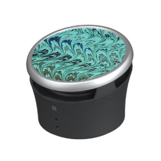 Vintage Swirls Teal Blue Green Silver Waves Speaker
