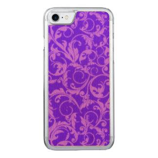 Vintage Swirls Ultraviolet Purple Carved iPhone 7 Case
