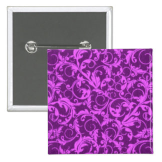 Vintage Swirls Winterberry Orchid Purple 15 Cm Square Badge