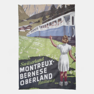 Vintage Swiss Alps Travel Towels