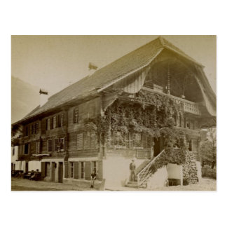 Vintage, Swiss Chalet at Interlaken, 1890 Postcard