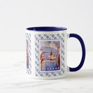 Vintage Swiss design,Luzern Mug