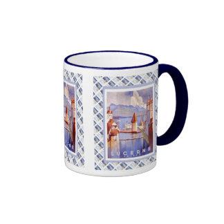 Vintage Swiss design,Luzern Ringer Mug
