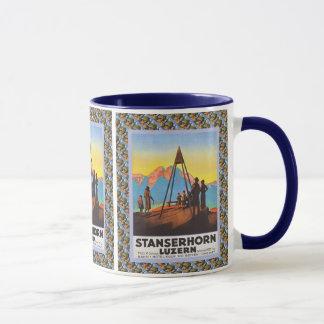 Vintage Swiss design, Stanzerhorn Luzern Mug