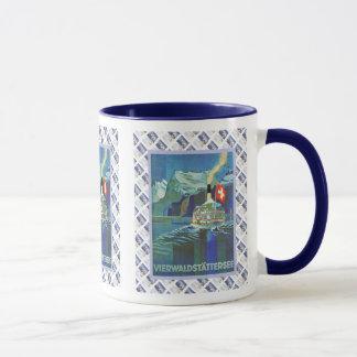 Vintage Swiss design, Vierwaldstatersee Mug