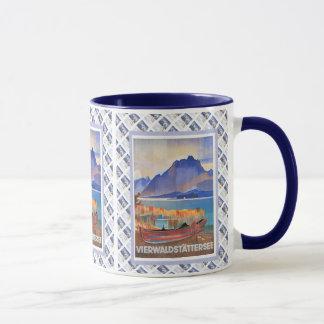 Vintage Swiss design, Vierwaldstattersee Luzern Mug