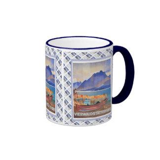 Vintage Swiss design, Vierwaldstattersee Luzern Ringer Mug