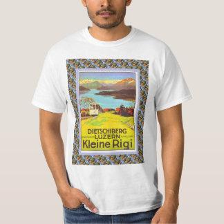 Vintage Swiss Railway Poster Dietschiberg Luzern T-Shirt