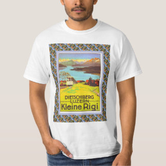 Vintage Swiss Railway Poster Dietschiberg Luzern Tee Shirt