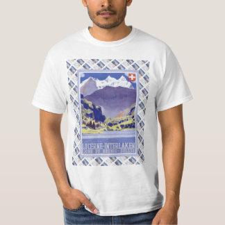 Vintage Swiss Railway Poster Luzern Interlaken Shirt