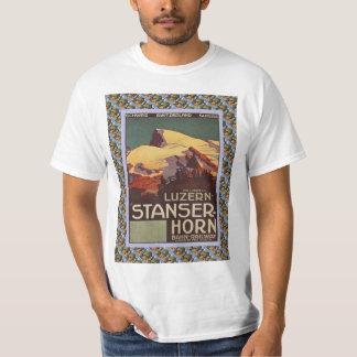 Vintage Swiss Railway Poster Luzern Stanzerhorn T-Shirt