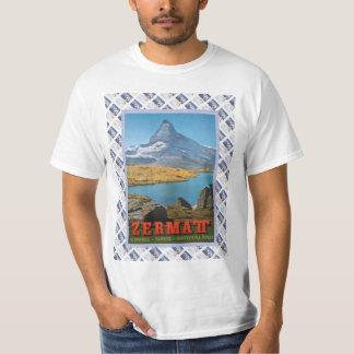 Vintage Swiss Railway Poster Zermatt, Matterhorn T-shirts