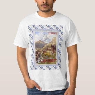 Vintage Swiss Railway Poster Zermatt, Matterhorn Tee Shirts