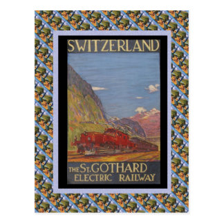 Vintage Swiss Railway St Gotthard electric Postcards