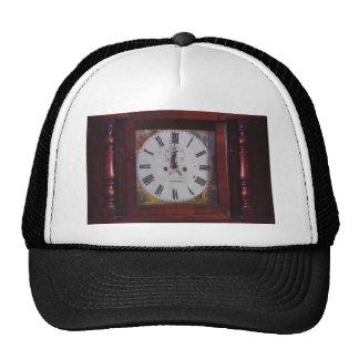 Vintage Swiss Wall Clock elegant design tan border Hat