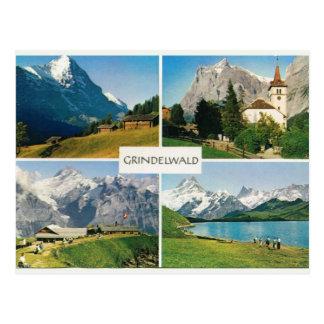 Vintage Switzerland Grindelwald Postcard