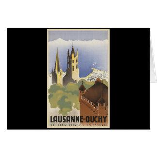 Vintage Switzerland Lausanne-Ouchy Card
