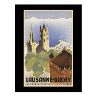 Vintage Switzerland Lausanne-Ouchy Postcard