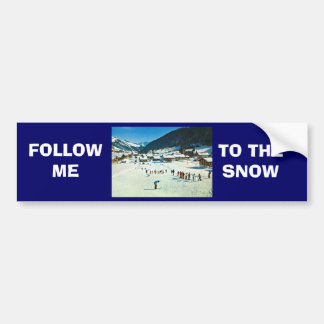 Vintage Switzerland, Morgins Ecole de ski Bumper Sticker
