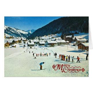 Vintage Switzerland, Morgins Ecole de ski Card