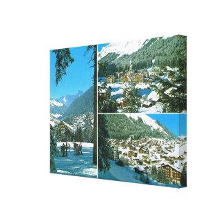 Vintage Switzerland, Morgins  Multiview Canvas Print