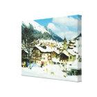 Vintage Switzerland, Morgins ski resort Canvas Print