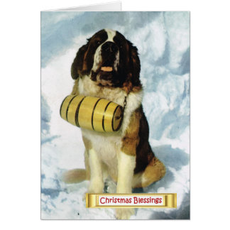 Vintage Switzerland, St Bernard dog, Card
