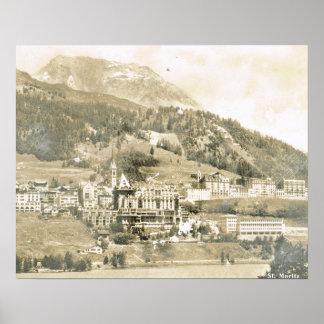 Vintage Switzerland, St Moritz 1906 Poster