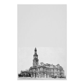 Vintage Sydney Town Hall Photograph c1898 Stationery
