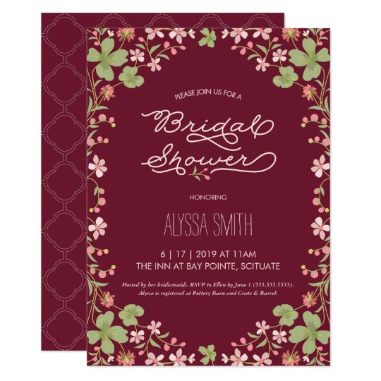 Vintage Syle Bridal Shower Invitation - Floral