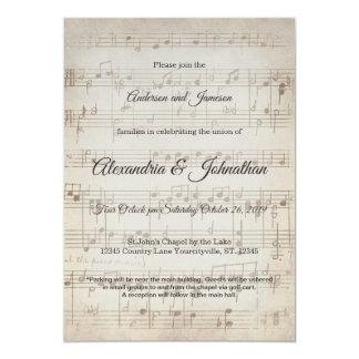 Vintage Symphony Musical Note Wedding Invites