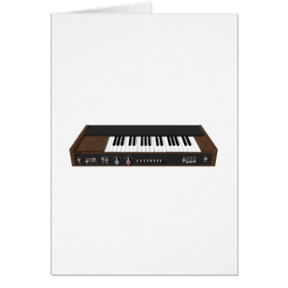 Vintage Synthesizer: 3D Model: Greeting Card