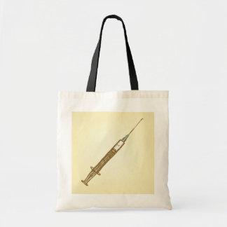 Vintage Syringe Tote Bag