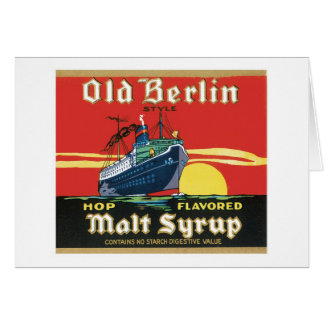 Vintage Syrup Food Product Label Note Card