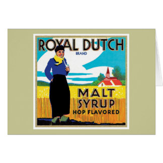 Vintage Syrup Food Product Label Greeting Card