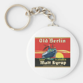 Vintage Syrup Food Product Label Basic Round Button Key Ring