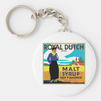 Vintage Syrup Food Product Label Key Chains