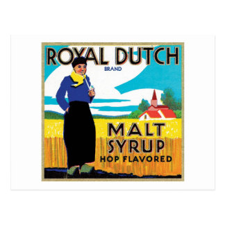 Vintage Syrup Food Product Label Postcard
