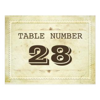 vintage table number cards postcard