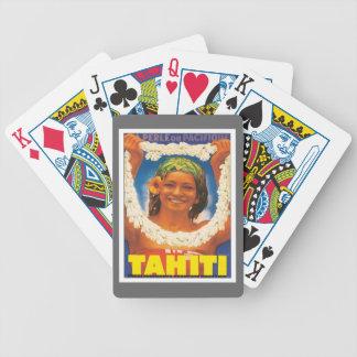 Vintage Tahiti Bicycle Playing Cards