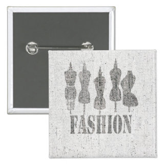 Vintage Tailor Dress Forms 15 Cm Square Badge