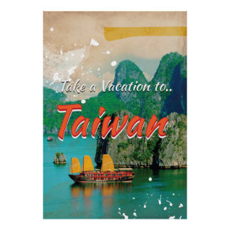 Vintage Taiwan Travel Poster