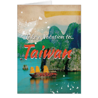 Vintage Taiwan Travel Poster Card